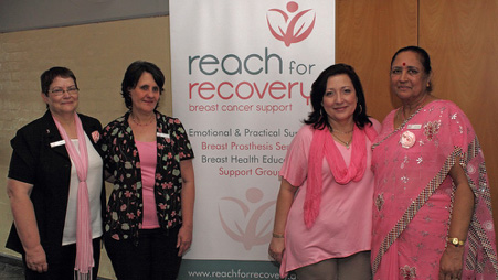 Reach for Recovery Volunteers: Lil Marshall, Jenny Caldwell, Sandy Lawrence, Indera Maharaj