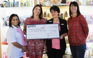 From left;  Nirri Moethilalh (RFR ),  Jenny Mayo (Owner & Director of Impo),  Jenny Caldwell (RFR)  Leanne Lynch (Brand Manager of Impo).
