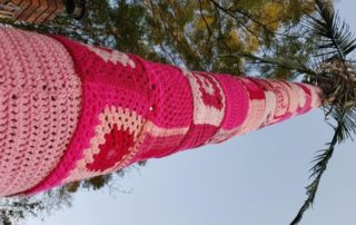 Yarn bombed